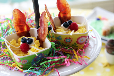 Scrambled Eggs & Bacon for Easter